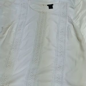 Ann Taylor women's lace blouse
